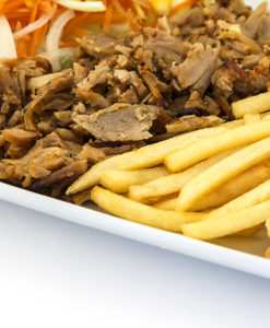 kebab loncheado de pollo