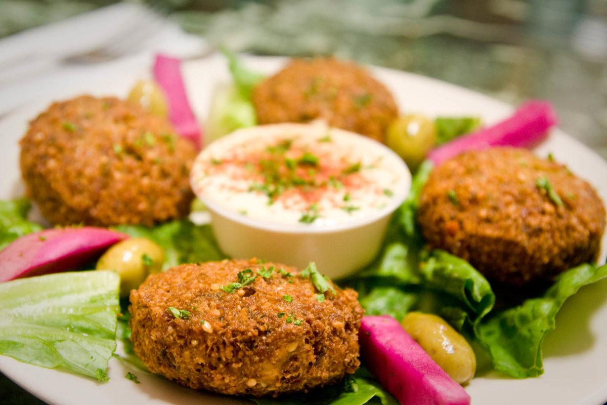 preparado de falafel