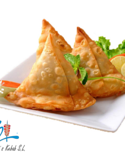 Samosa de pollo o vegetal al curry