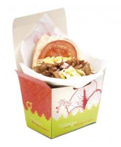 Envase kebab pan pita para llevar